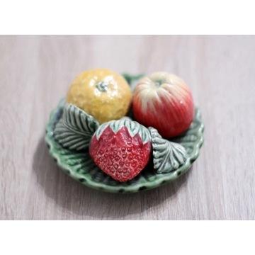 Patera sztuczne owoce talerz z owocami dekoracja