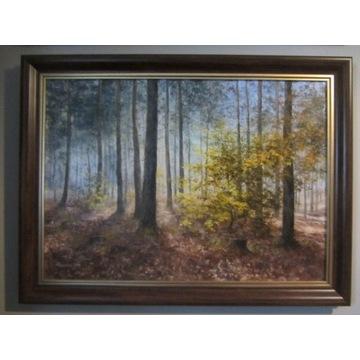 M. Rawicka, obraz olejny, pejzaż  60x80 cm.