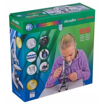 Mikroskop bresser 300x-1200x + Preparaty ZOOLOGIA