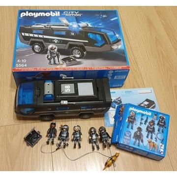 Pojazd policja + 6 x ludziki PLAYMOBIL 5564 + 5565