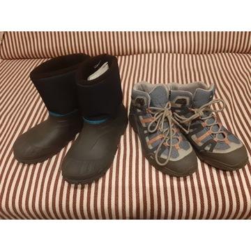 2 pary butów-QUECHUA-r.35