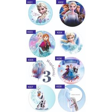 Opłatek na tort jadalny Kraina Lodu Frozen 2 Elsa
