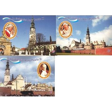 JAN PAWEŁ II - pocztówki 5 szt. Częstochowa 2011r.