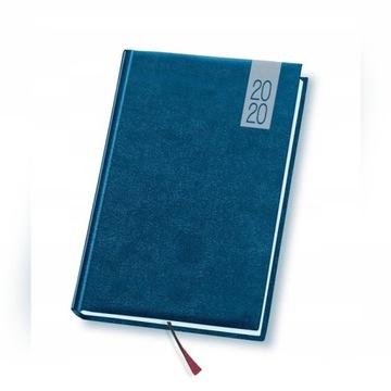 Kalendarz książkowy 2020 A5 niebieski Topaz