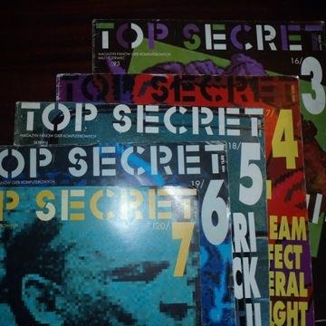 Czasopisma TOP SECRET (5 szt.) 1993 rok ATARI C64