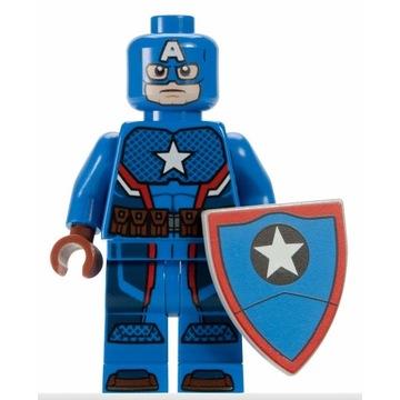 Lego Kapitan Ameryka Stary  Figurka Marvel