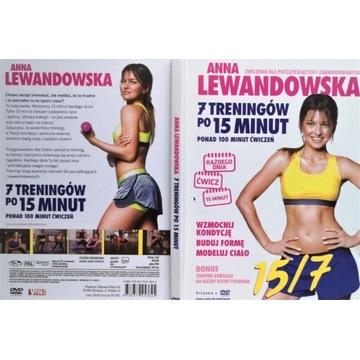 Anna Lewandowska  7 treningów po 15 minut DVD Ksią