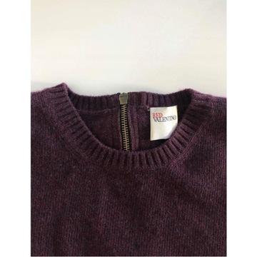 Red Valentino śliczny sweterek S wełna kokardka