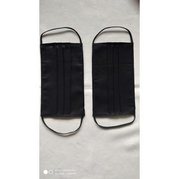 maseczki bawełniane czarne 2 sztuki