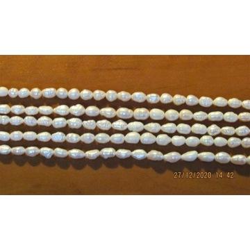 Naturalne perły hodowlane - zestaw 5 sznurów