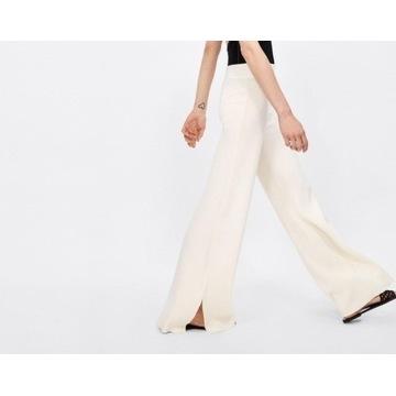 (40/L) ZARA/Dzianinowe spodnie z Madrytu/NOWE