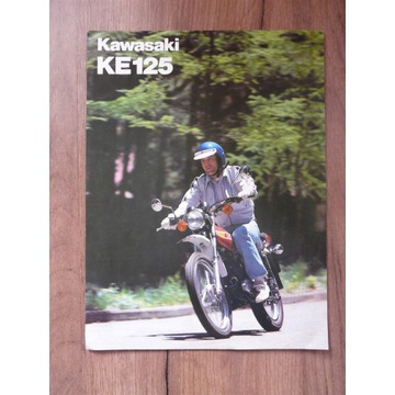 Motor Kawasaki KE 125 prospekt wydanie angielskie