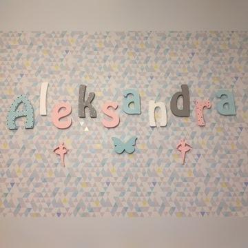 Imiona na ścianę ze styroduru