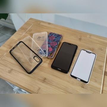 Huawei P20 Lite Black 64GB 4GB +szkło +4x etui