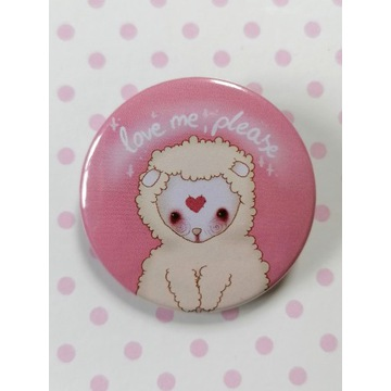 Przypinka Owca -Love me, please-