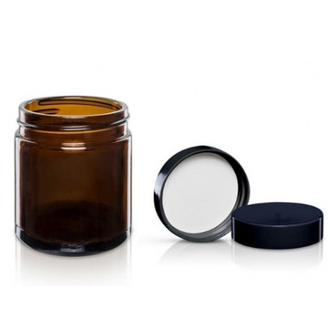Słoik szklany 30ml brązowy amber 30szt z nakrętka
