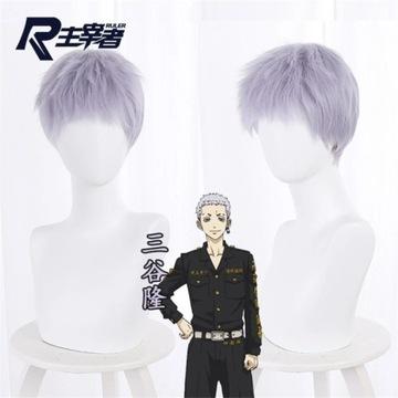 Tokyo Revengers Takashi Tsuy cosplay peruka wig
