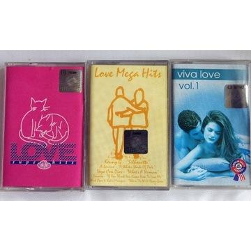 Love super hits/Love Mega Hits/Viva love -3 kasety