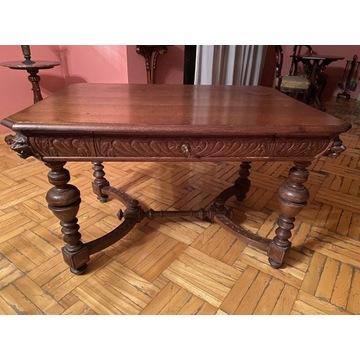 Antyczne biurko!! Lite drewno!! Piękne zdobienia