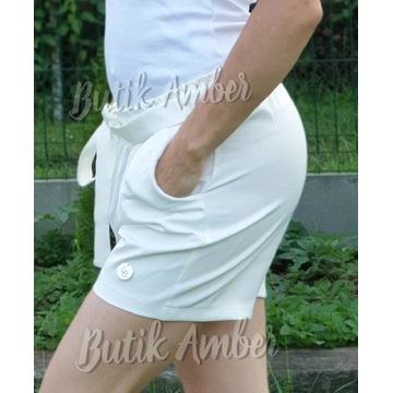 Eleganckie Spodenki białe 38 M nowe sklep