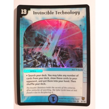 Invincible Technology karty Duel Masters holo