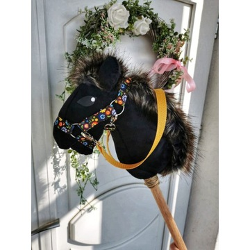 Koń Hobby Horse na kiju + zestaw - Happy