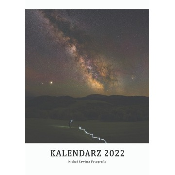 Kalendarz 2022 krajobraz i niebo Polska