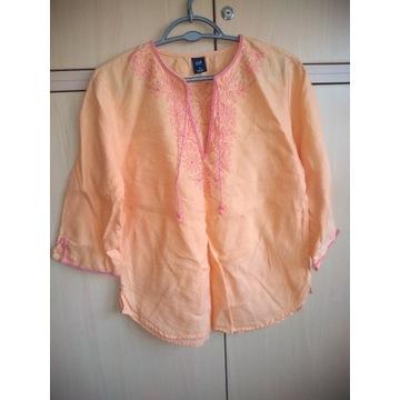 Bluzeczka 100% len folk boho gap