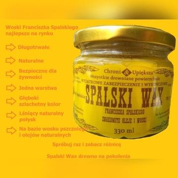 Kolorowe masło-wosk do drewna na bazie wosku pszcz