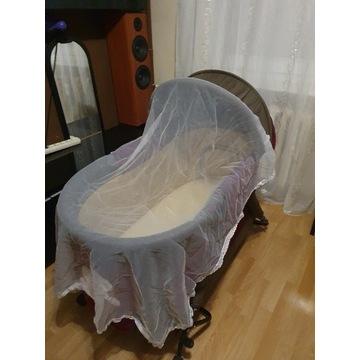łóżeczko turystyczne kołyska moskitiera