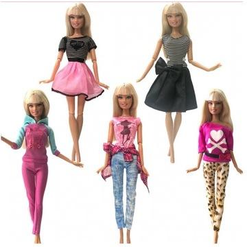 5 kompletów ubrań dla lalek Barbie - wysoka jakość