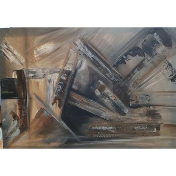 Obraz  Abstrakcja Beż  70x50