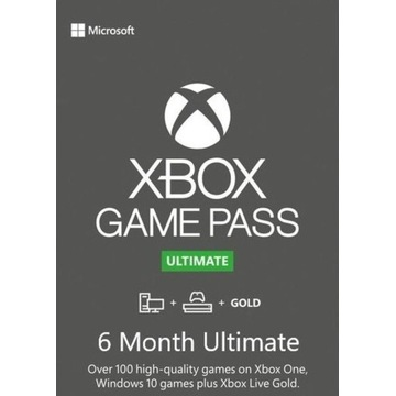 Game Pass Ultimate + Live Gold (6 m - ce) KLUCZ