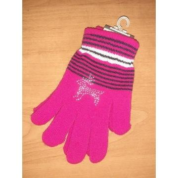 Nowe rękawiczki dziecięce damskie 21 cm S