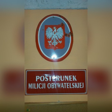 Tablica posterunek milicji obywatelskiej