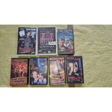 Filmy na VHS licytacja od 1zł bez ceny minimalnej.