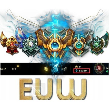 League of Legends KONTO LOL EUW UNRANKED +50k BE