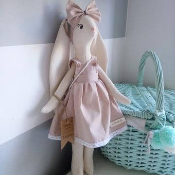 Lalka handmade ręcznie robiony królik bawełniany