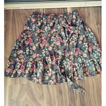 Spódnica falbanki kwiaty wiązanie roz S 36