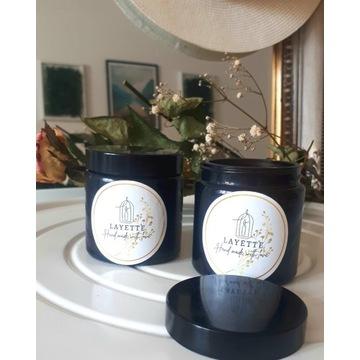 Zestaw 2  świec sojowych -słodki granat oraz sosna