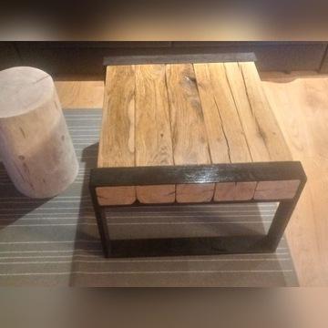 Stół stolik LOFT indrustial lite drzewo
