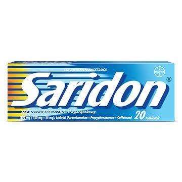 Saridon, 20 tabletek ból przeziębienie gorączka