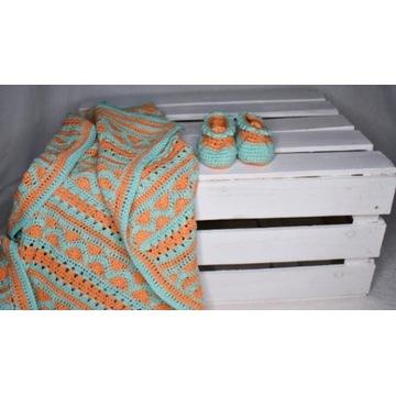 Miękki bawełniany kocyk dla dziecka Handmade