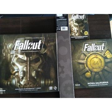gra planszowa Fallout (PL) full set +koszulki FFG
