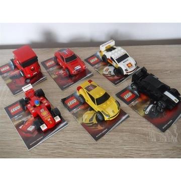 Lego Ferrari kpl 6  30194  30195  30192  30193....