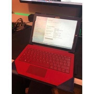 Microsoft surface 3 pro 8gb ram i5 4300U + case