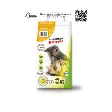Benek Corn Natural - kukurydziany żwirek dla kota