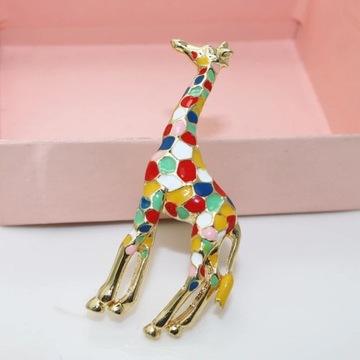 Broszka zyrafa