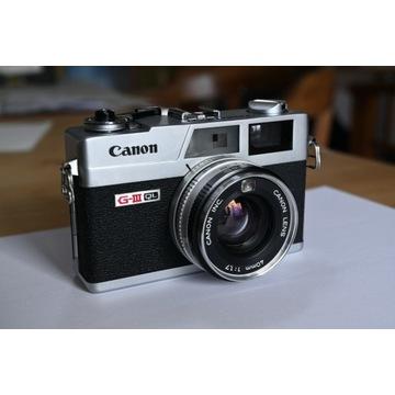 kultowy dalmierz Canonet Ql17 GIII + dodatki