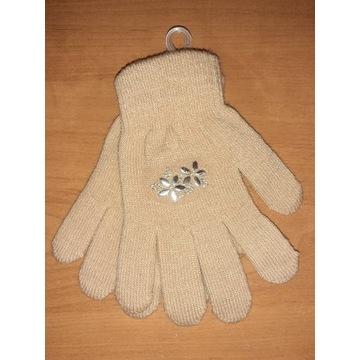 Nowe rękawiczki dla dziewczynki damskie 17 18 cm S